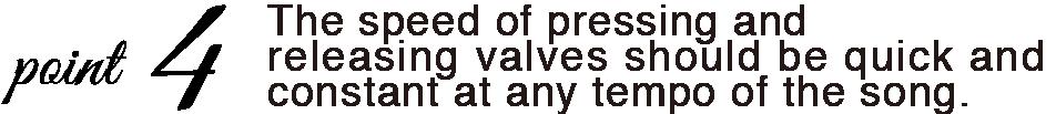 VALVINO どんなテンポの曲でもピストンを押す・離す速度は素早く一定に