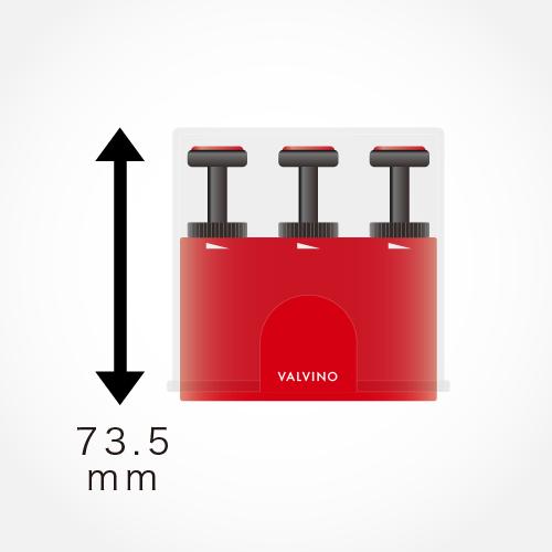 VALVINOの高さは73.5cm