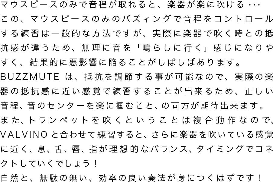 VALVINOと長谷川 智之氏のコメント